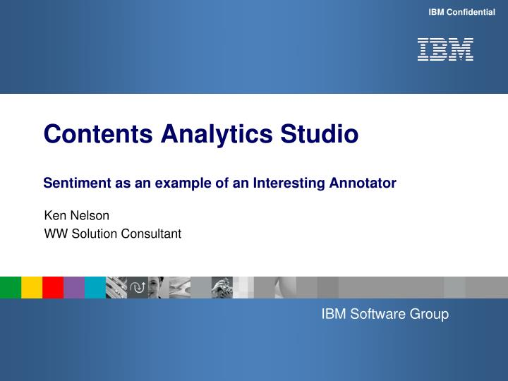 Contents analytics studio sentiment as an example of an interesting annotator