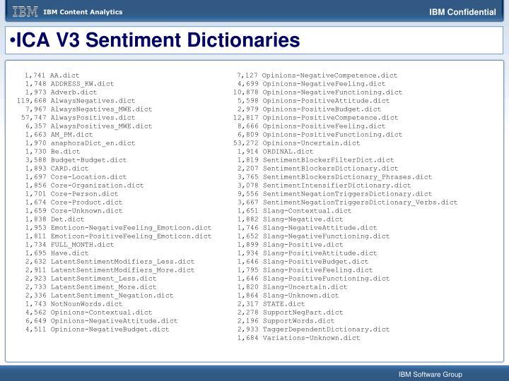 ICA V3 Sentiment Dictionaries