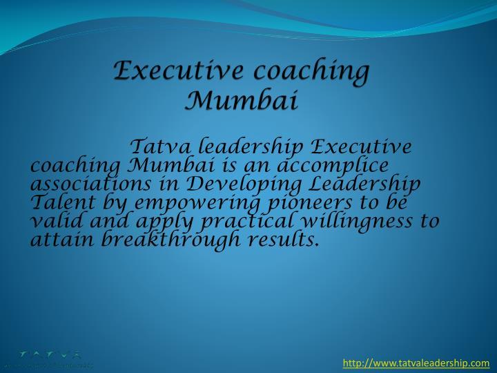 Executive coaching Mumbai