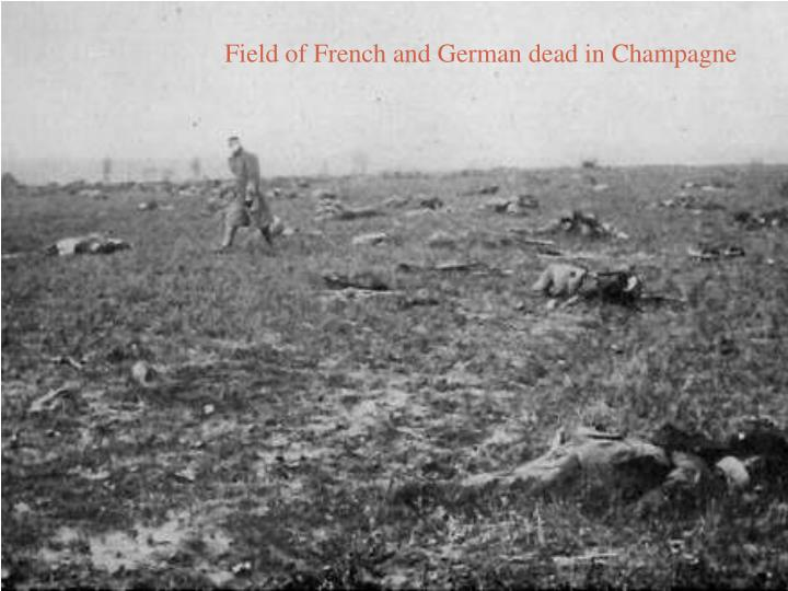 Field of French and German dead in Champagne