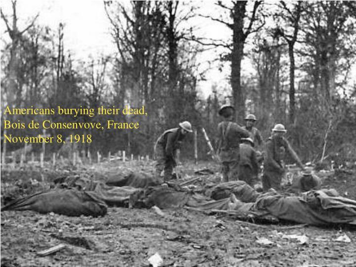 Americans burying their dead, Bois de