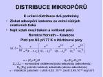 distribuce mikrop r