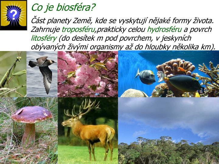 Co je biosféra?