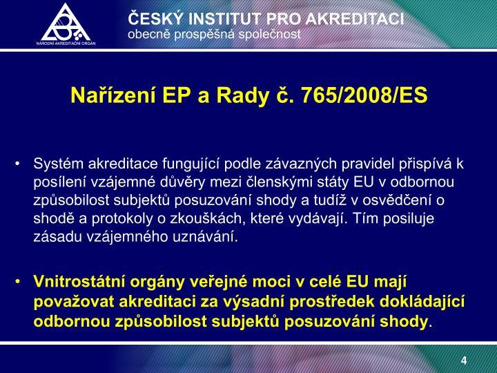 Nařízení EP a Rady č. 765/2008/ES