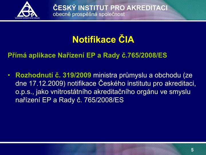 Notifikace ČIA