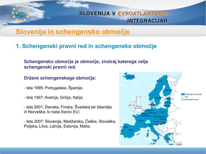 Slovenija in schengensko območje