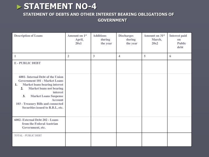 STATEMENT NO-4