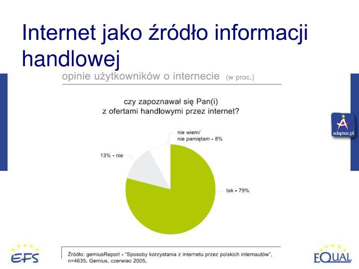 Internet jako źródło informacji handlowej