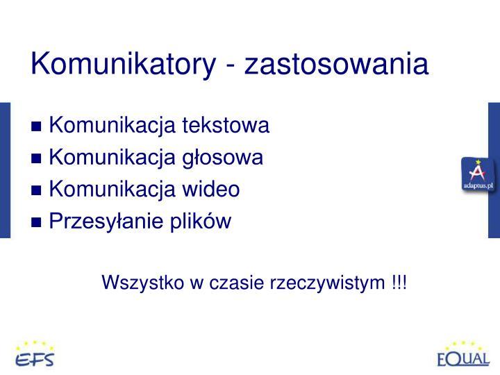 Komunikatory - zastosowania