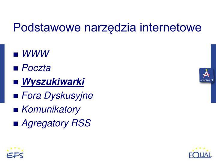 Podstawowe narzędzia internetowe