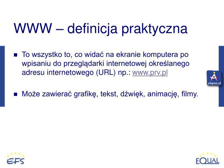 WWW – definicja praktyczna