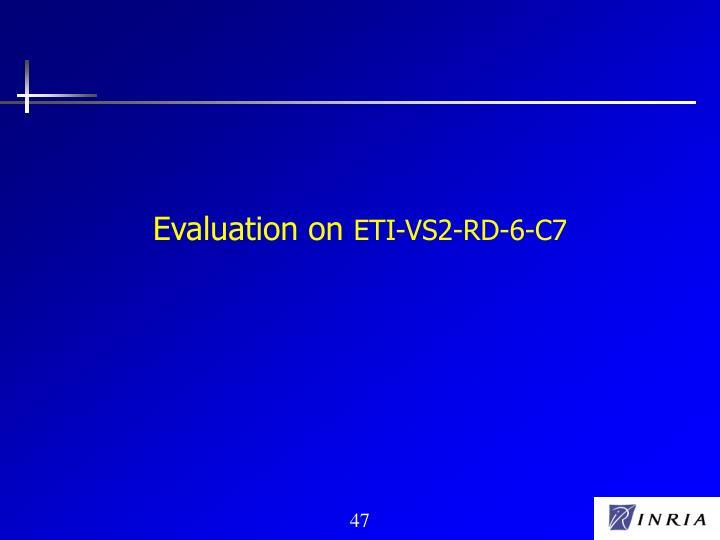 Evaluation on