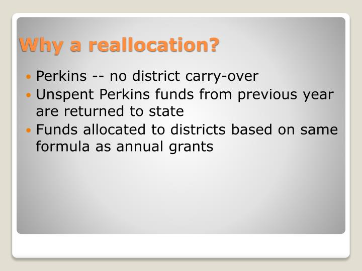 Perkins -- no district carry-over