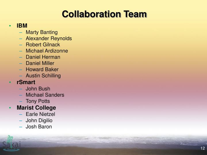 Collaboration Team