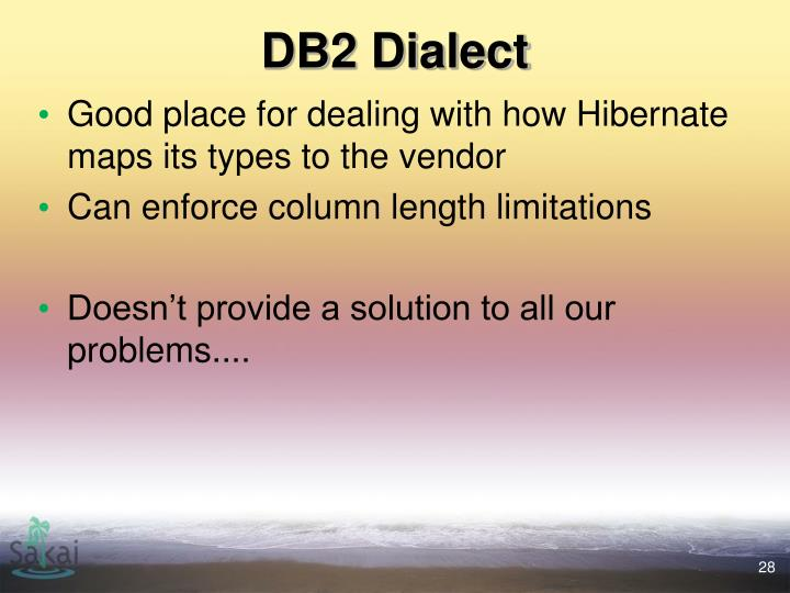 DB2 Dialect