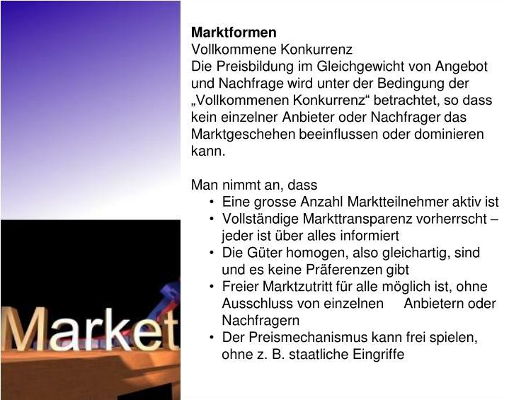 Marktformen