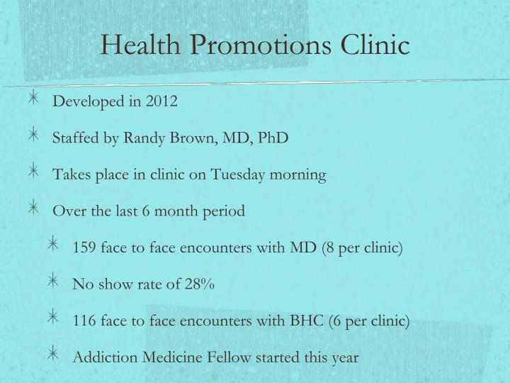 Health Promotions Clinic