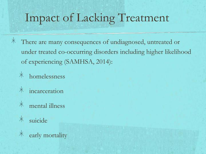 Impact of Lacking Treatment