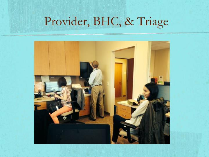 Provider, BHC, & Triage