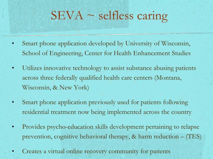 SEVA ~ selfless caring
