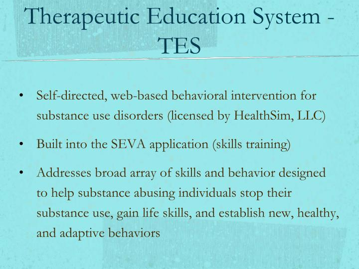 Therapeutic Education System - TES
