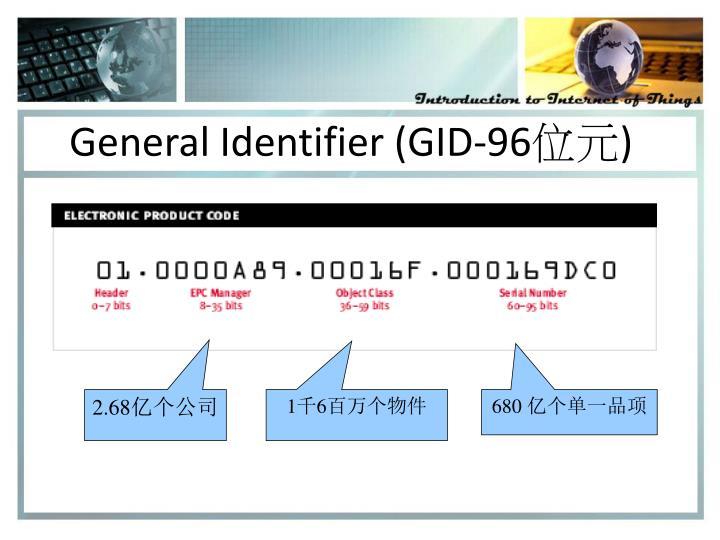 General Identifier (GID-96