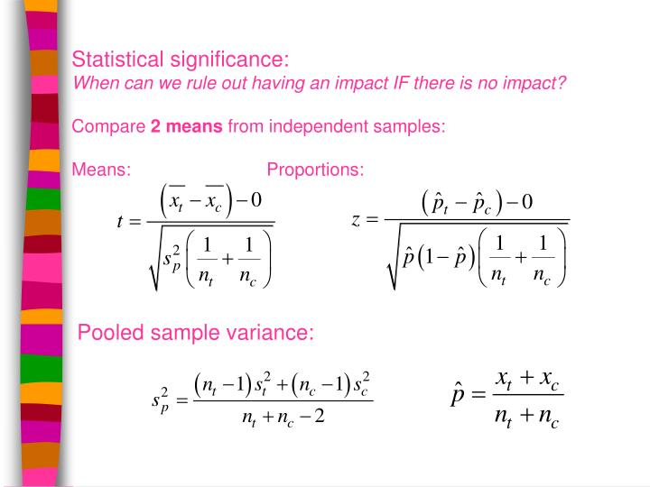 Statistical significance: