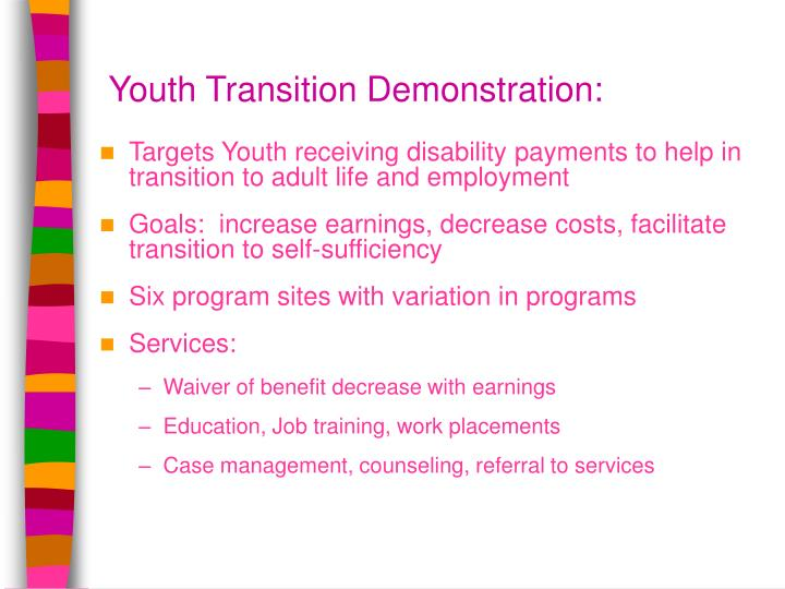 Youth Transition Demonstration: