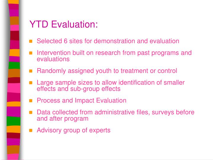 YTD Evaluation: