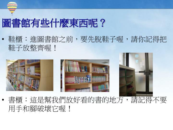 圖書館有些什麼東西呢?