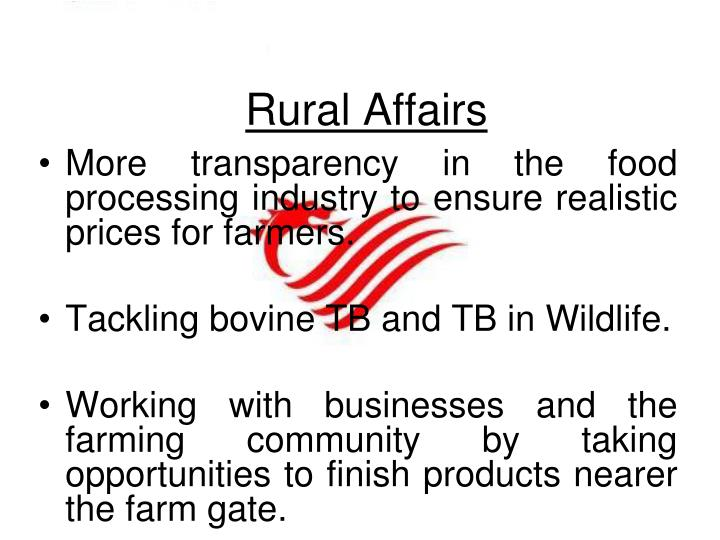 Rural Affairs