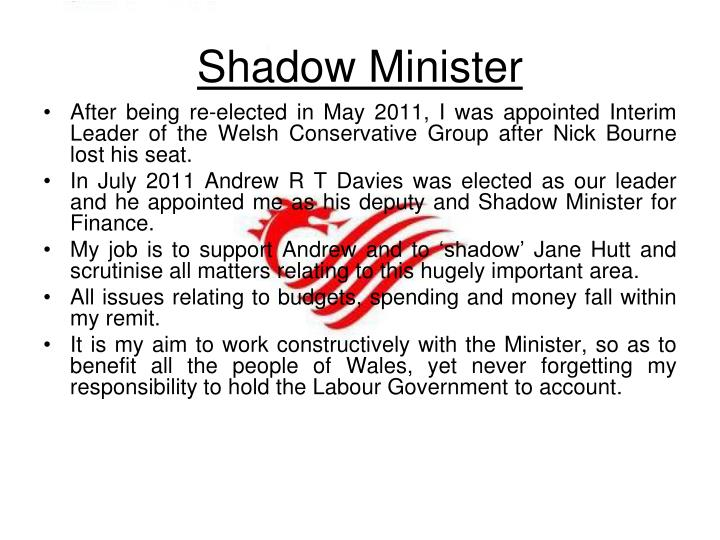 Shadow Minister