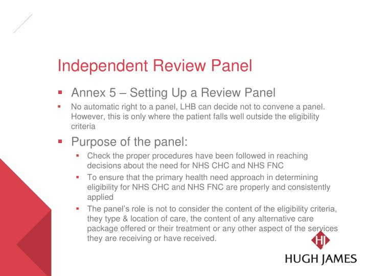 Independent Review Panel