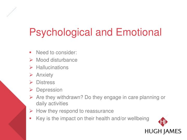 Psychological and Emotional