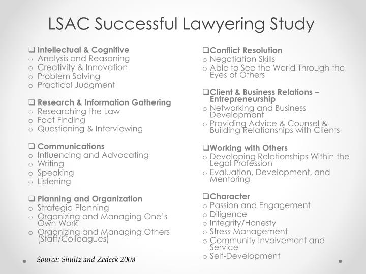 LSAC Successful Lawyering Study