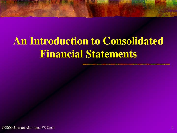 An Introduction to Consolidated