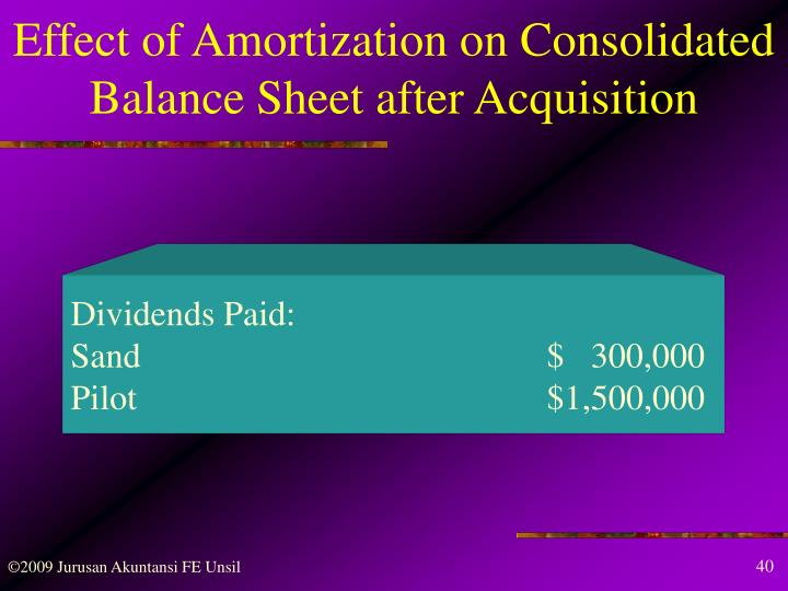 Effect of Amortization on Consolidated