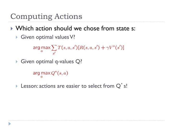 Computing Actions