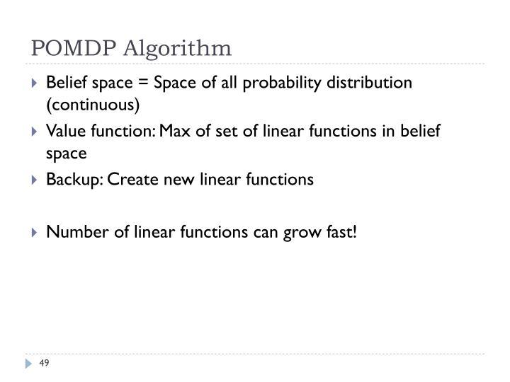 POMDP Algorithm