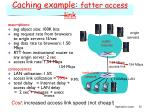 caching example fatter access link