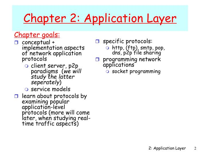 Chapter 2 application layer1