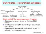 distributed hierarchical database