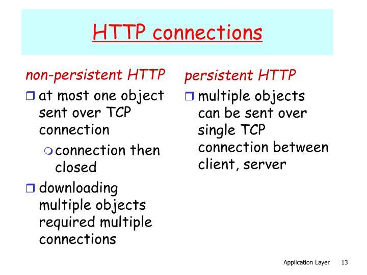 non-persistent HTTP