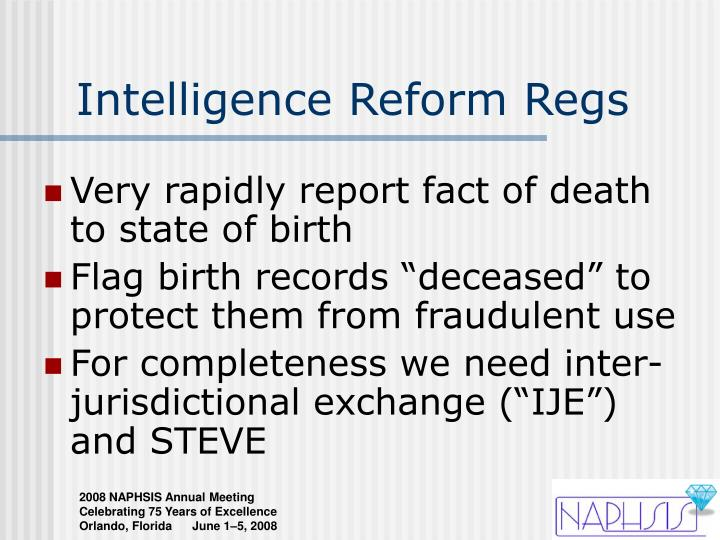 Intelligence Reform Regs