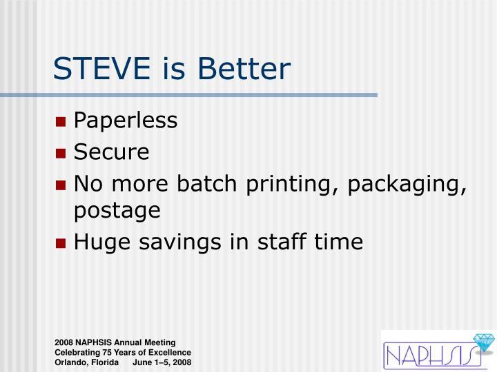 STEVE is Better