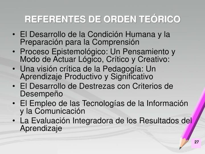 REFERENTES DE ORDEN TEÓRICO