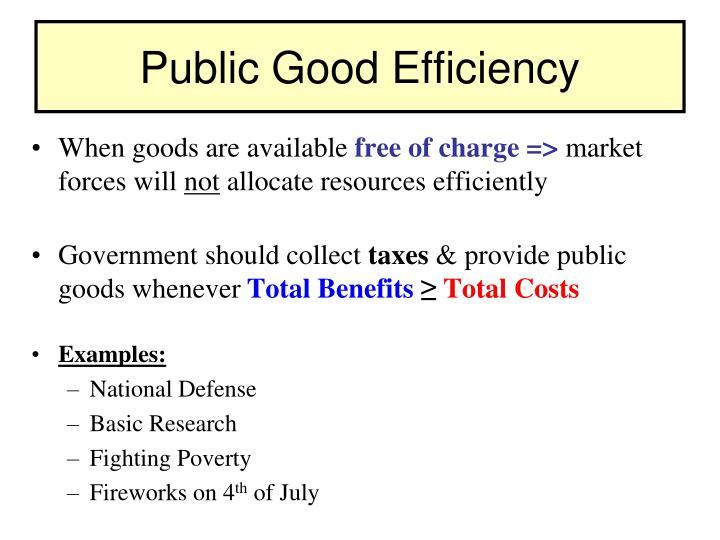 Public Good Efficiency