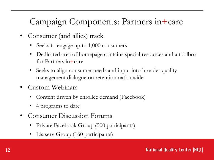 Campaign Components: Partners in