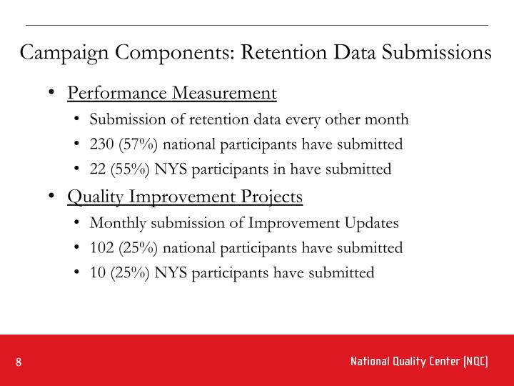 Campaign Components: Retention Data Submissions