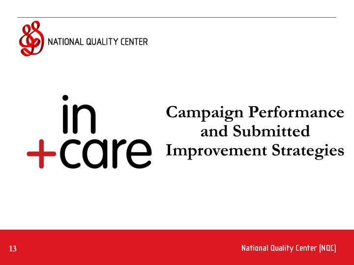Campaign Performance and Submitted Improvement Strategies